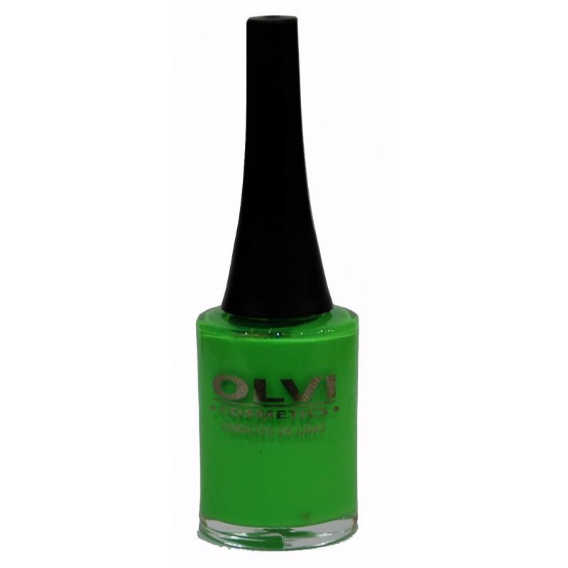 Esmalte Olvi 125 verde fluorescante