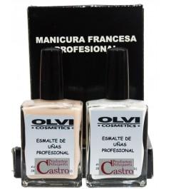 Manicura francesa profesional Kit Olvi