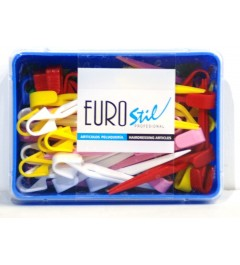 Caja 60 pinzas plastico medianas eurostil
