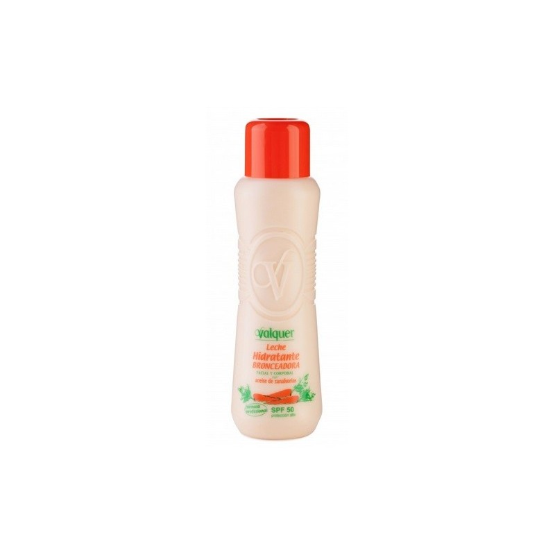 Leche hidratante bronceadora SPF 50 ml Valquer