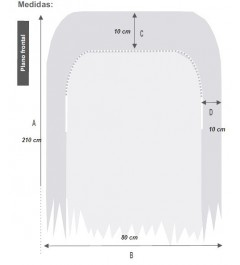 Sabanas desechables ajustable camillas SMS 210 x 80