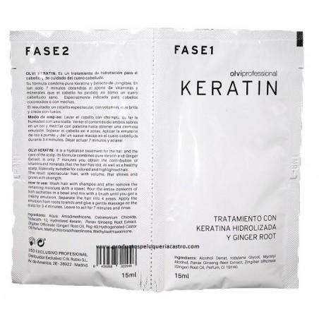 Tratamiento keratina y Ginser 2 fase Olvi