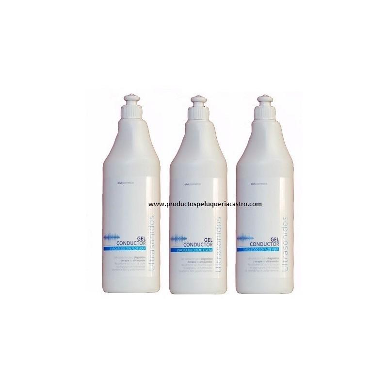 Pack 3 Gel Conductor Tratamientos esteticos 1000 ml Aloe Vera Olvi