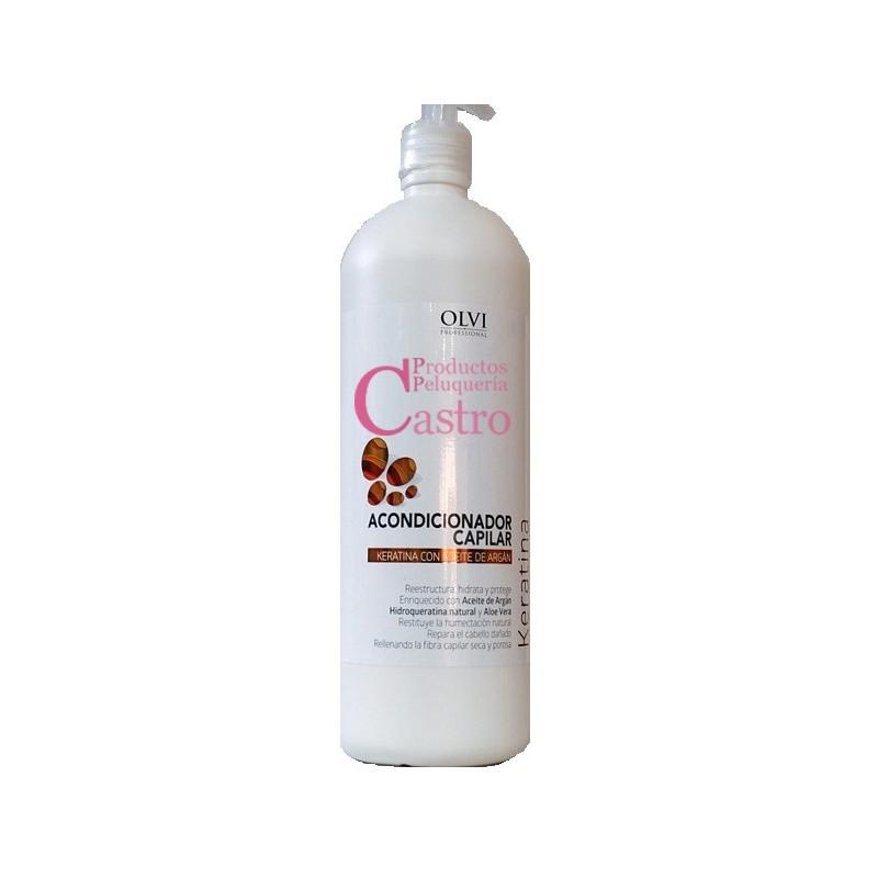 Acondicionador capilar keratina con aceite de argan 1000 ml Olvi