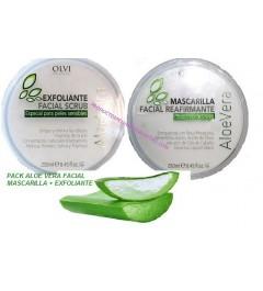 Pack Limpieza facial Exfoliante y Mascarilla Aloe Vera Olvi