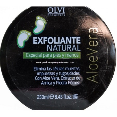 Exfoliante natural para pies y manos 250 ml Olvi