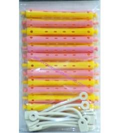 Bigudies plastico permanente Rosa Amarillo Olvi